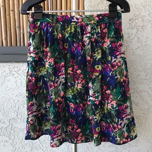 J. Crew Bright Floral Skirt with Pockets!